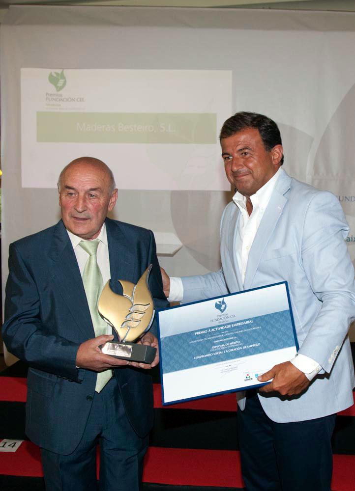 Ganador del Premio al Compromiso Social y la Creación de Empleo: Maderas Besteiro, S.L.