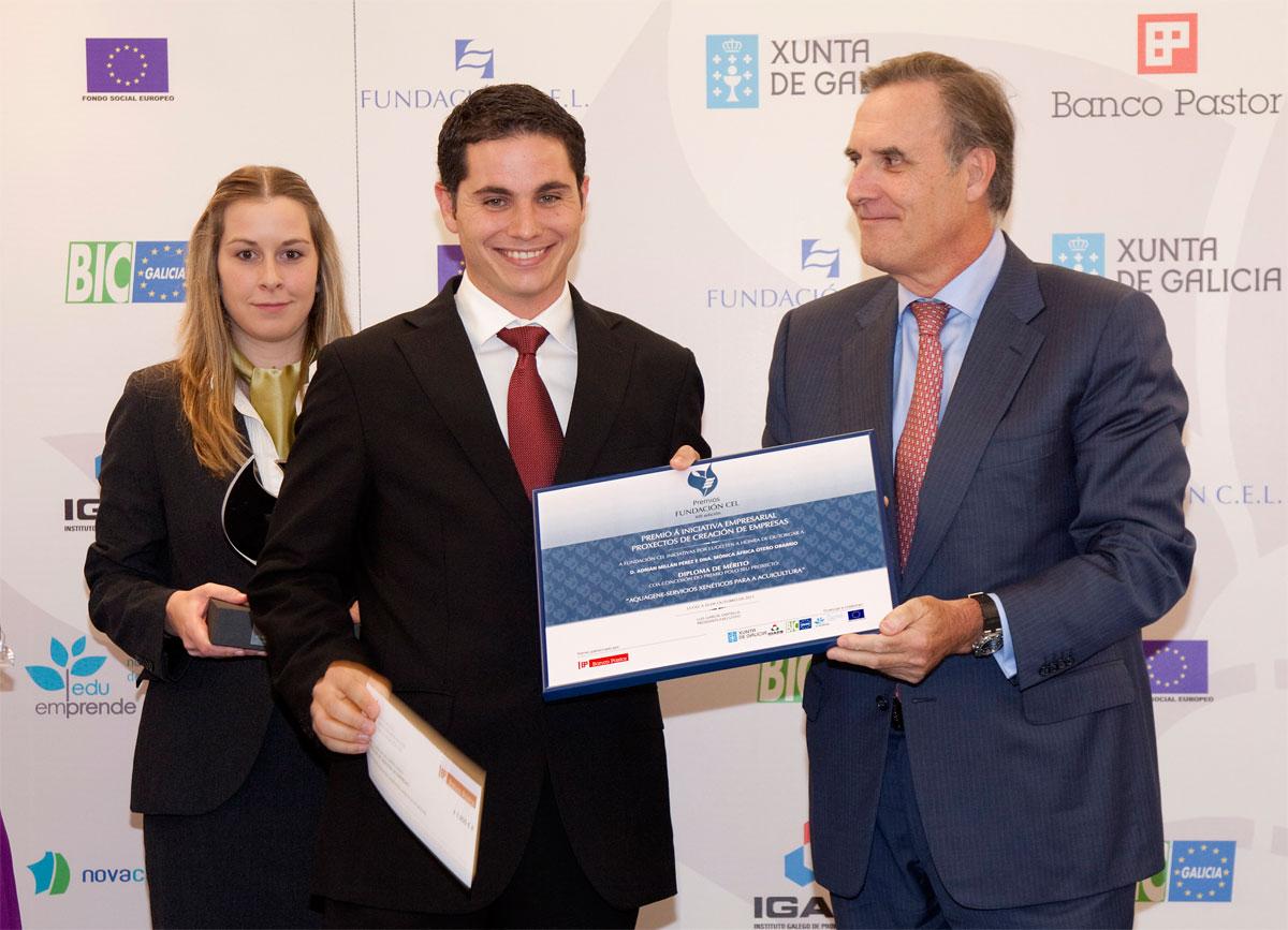 Ganador del Premio a Proyectos de Creación de Empresa: Aquagene - Servicios Genéticos para Acuicultura.