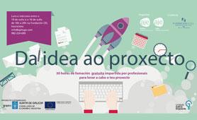 """Seminario """"Da Idea ao Proxecto"""". En Boletín de Noticias para Emprendedores de la Fundación CEL - Iniciativas por Lugo"""