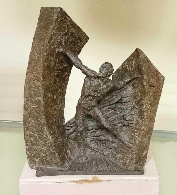 Estatua conmemorativa de la Iº Edición de los Premios Anuales de la Fundación CEL - Iniciativas por Lugo.
