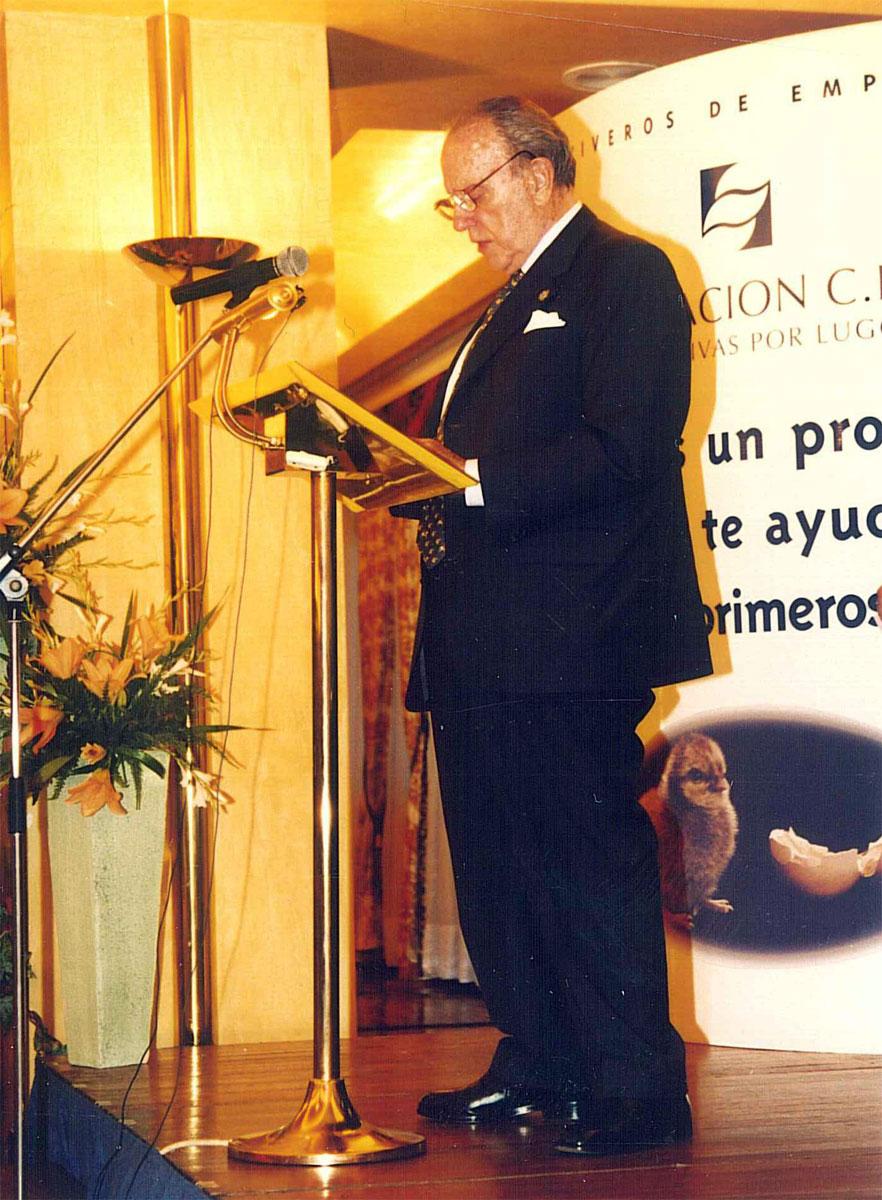 Sr. D. Manuel Fraga Iribarne, Presidente de la Xunta de Galicia.